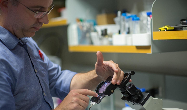 man using laboratory technology