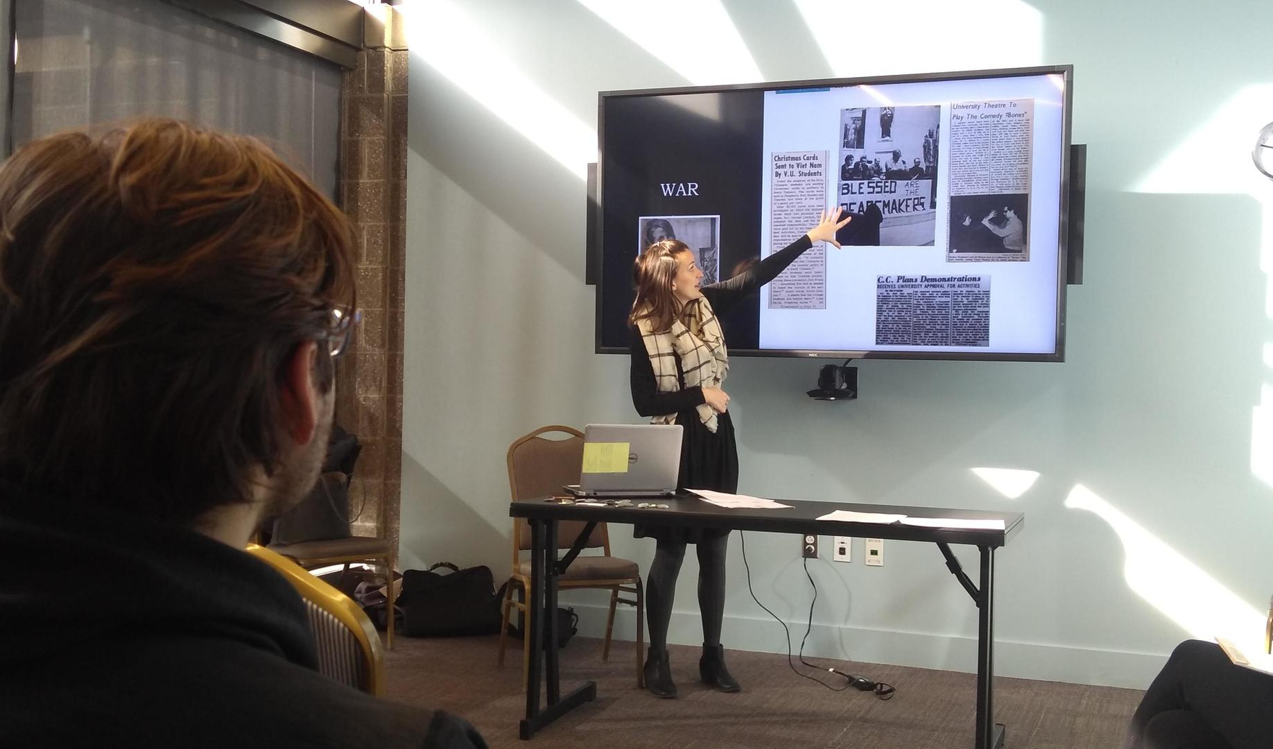 University Archivist conducting Freedom School session