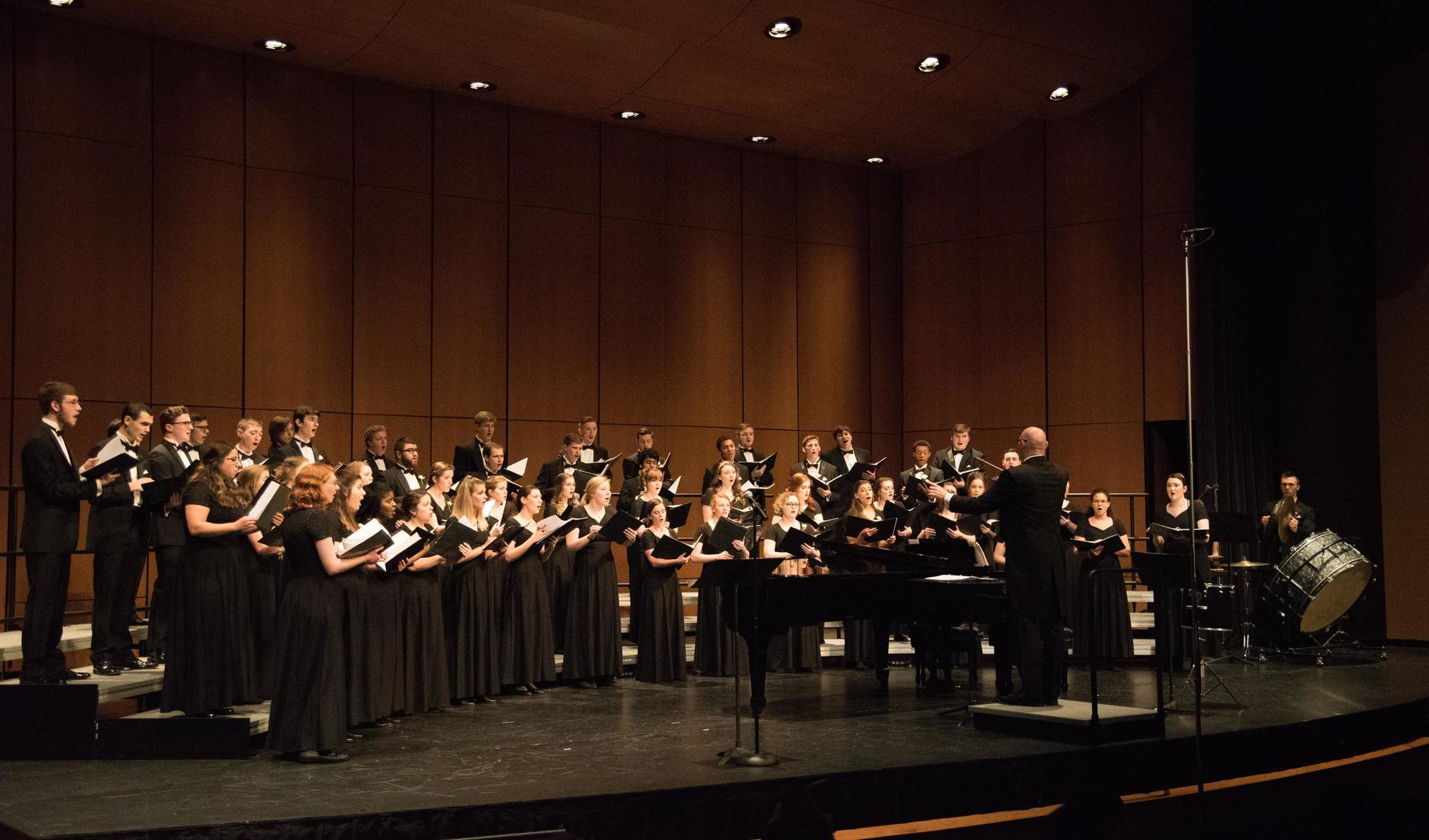 Mount Union Concert Choir performing in Brush Hall